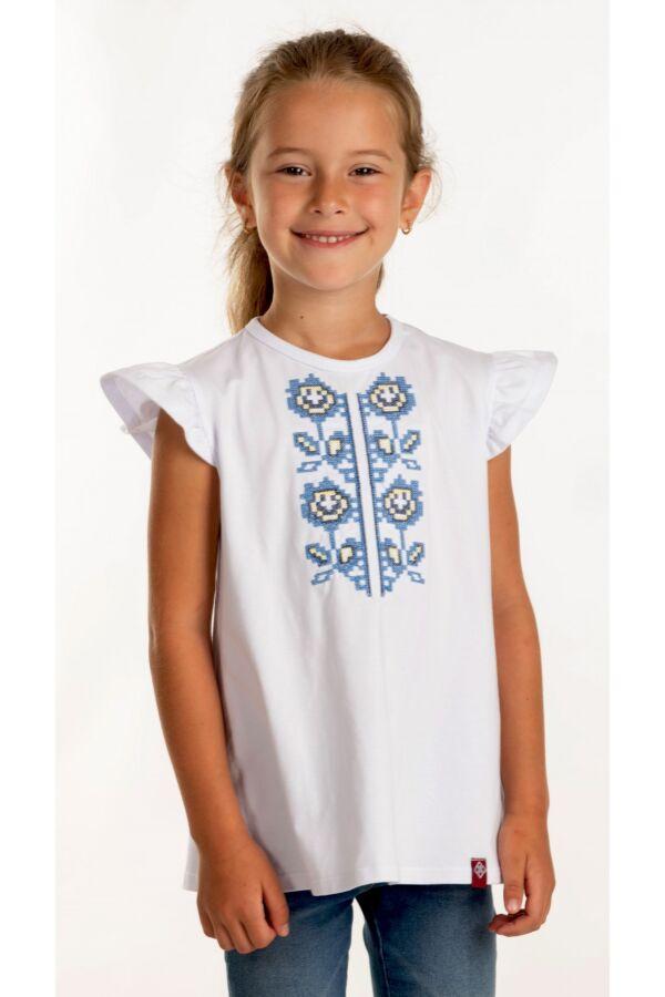 Вишита футболка для дівчинки (6014)