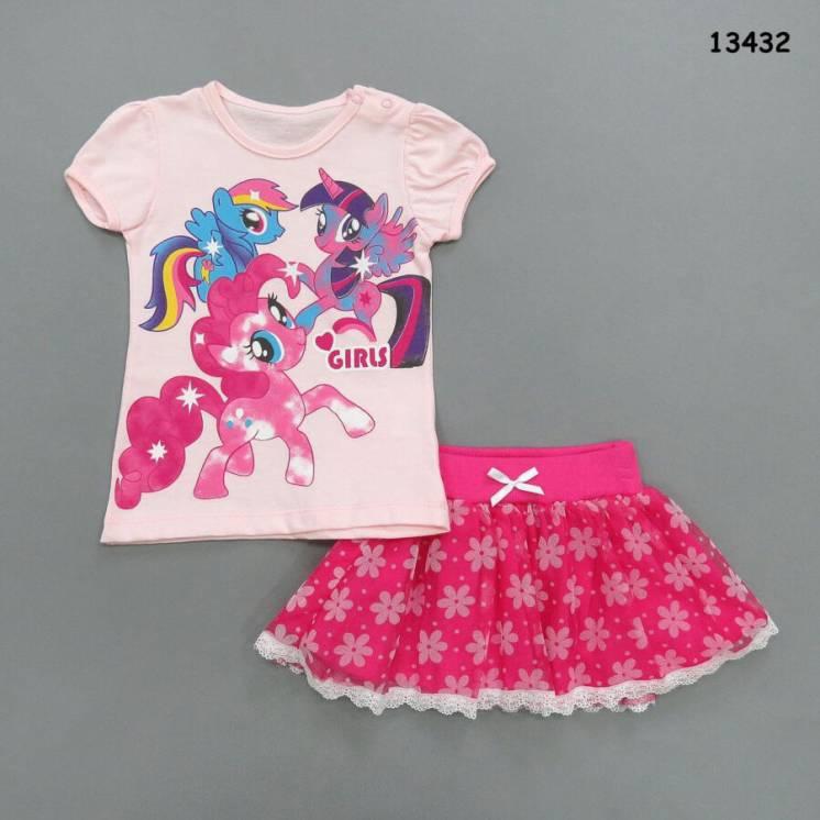 Летний костюм My Little Pony для девочки. 68 см