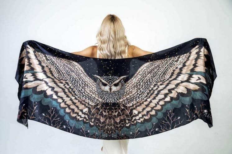 Шелковый платок Хустка з натурального шовку від бренду Zlitay