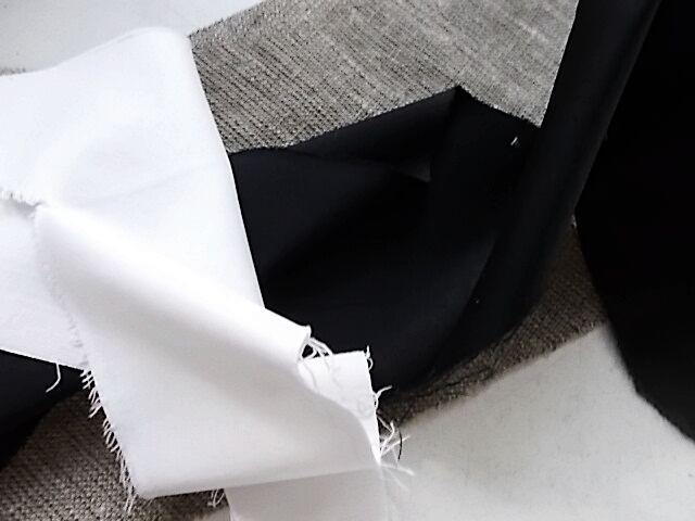 Ткань атлас набор белый и черный For Hand Made, рукоделия, поделок