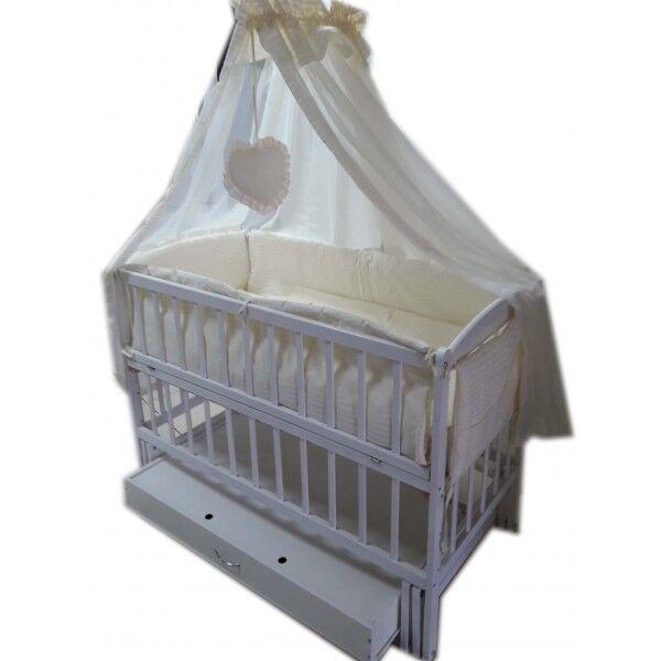 Акция! Комплект для сна! Кроватка маятник, матрас кокос, постель. Ново