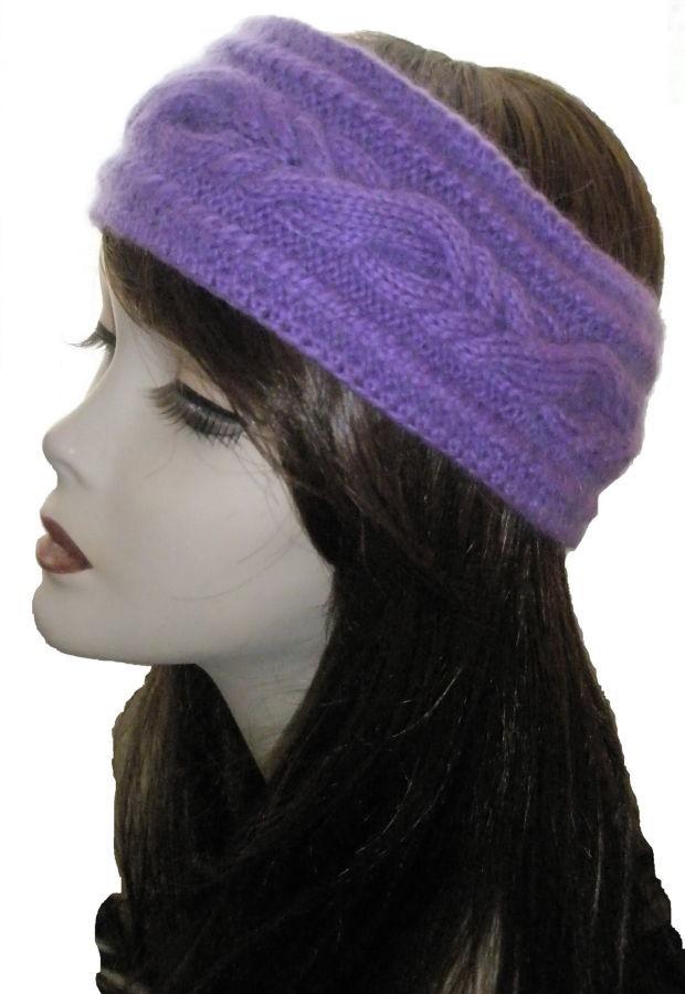 Комплект повязка на голову+ варежки ручной работы