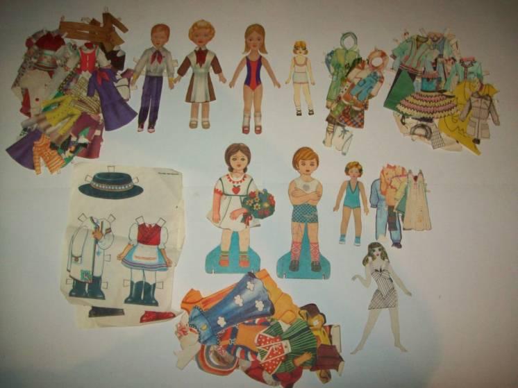Кукла бумажная с одеждой СССР редкость