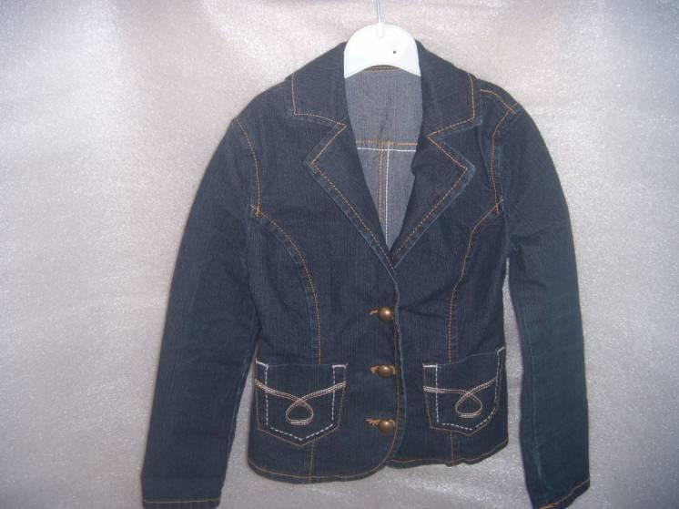 Куртка-жакет джинсовая для девочки 4-5 лет, новая