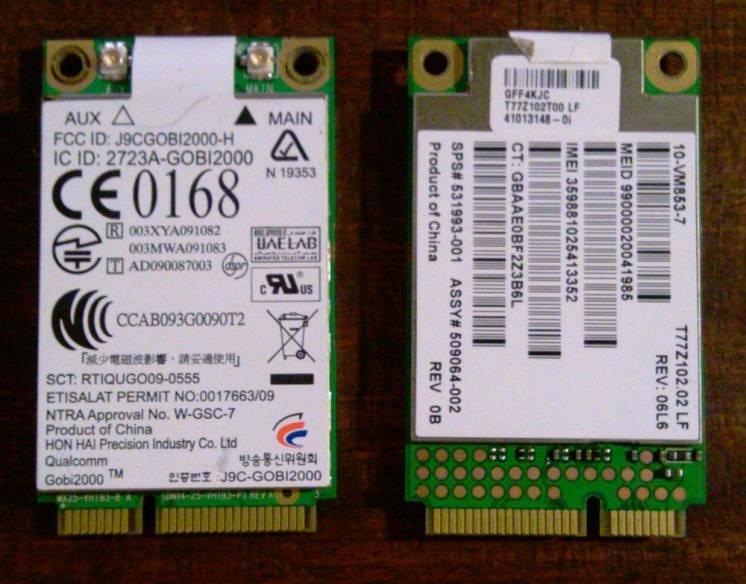 CDMA GSM модем GOBI2000 miniPCI-E Dell