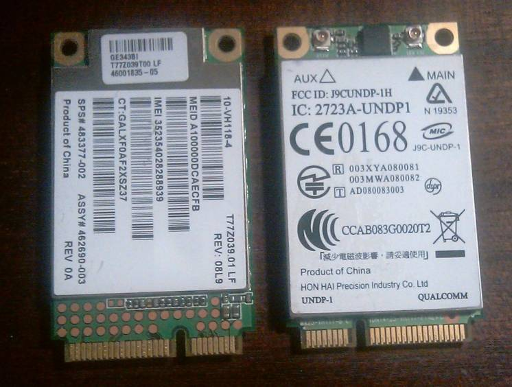 CDMA GSM модем UNDP-1 GOBI miniPCI-E HP UN2400