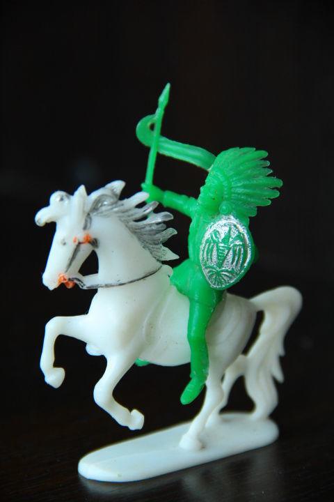 индеец на коне (Jean Hoeffler) ФРГ 54мм RAR