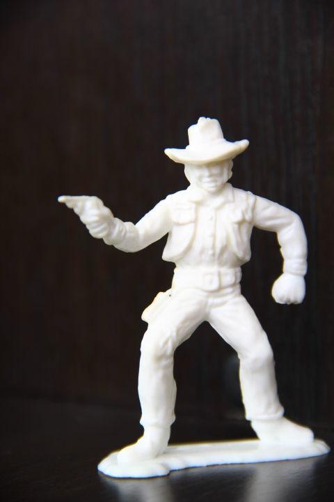 ковбой Domplast (ФРГ) 65мм раритетный белый цвет!!