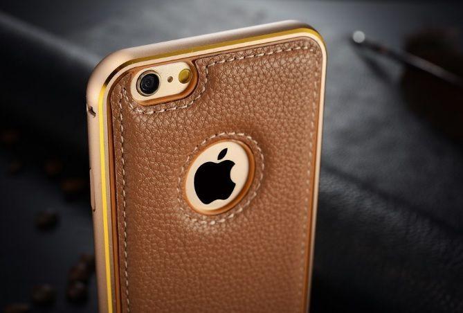 iPhone 6 6s Бампер чехол. Алюминий+зеркало кейс