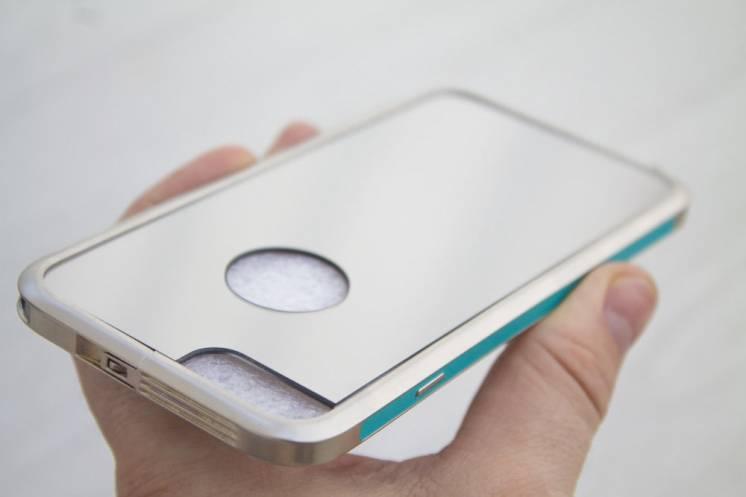 iPhone 6 6s кейс бампер алюминий+зеркало чехол