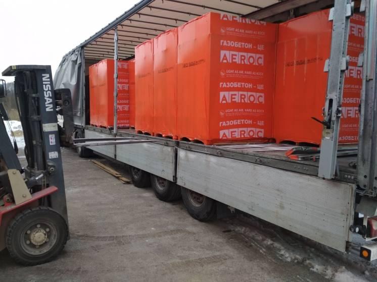 Газоблок AEROC D400 в наличии