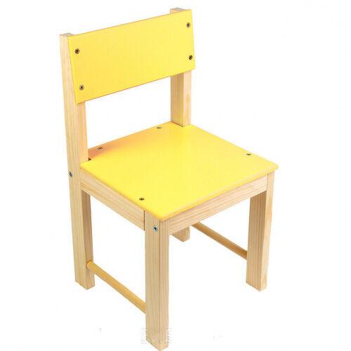Стульчик детский деревянный ИГРУША 50 см Желтый