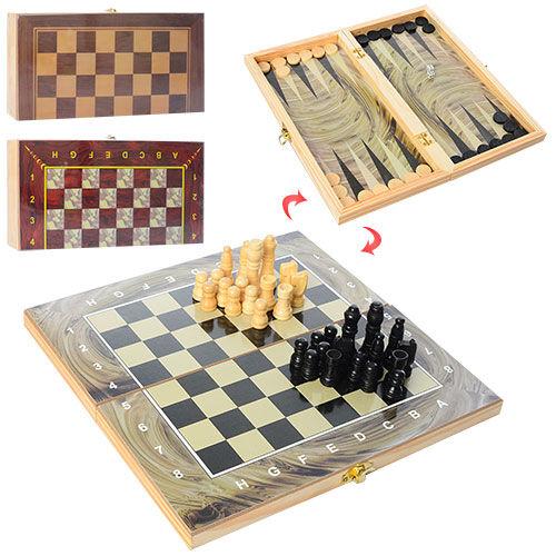 Шахматы шашки нарды деревянные Clasic 3 в 1