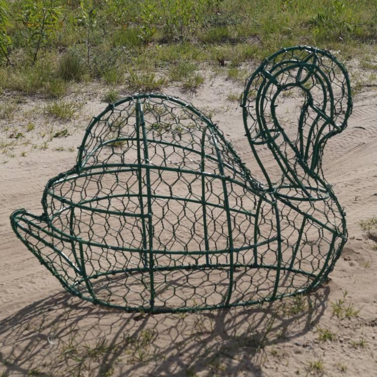 Топиари для сада/ лебедь/ скульптура/металл/газон/ландшафтный дизайн