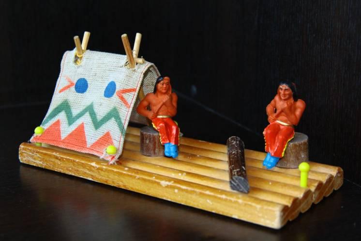 индейцы ковбои ГДР плот №413