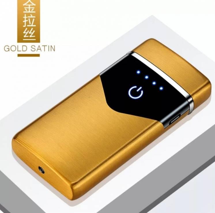 Электроимпульсная аккумуляторная сенсорная USB электро зажигалка
