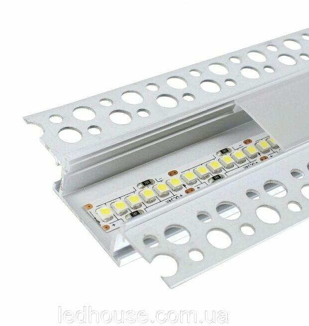 LED профиль в гипсокартон под штукатурку