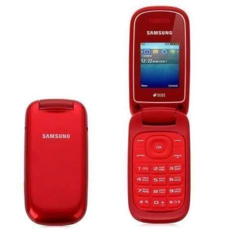 Телефон Раскладушка Samsung E1272 Duos Garnet Red 2 цвета