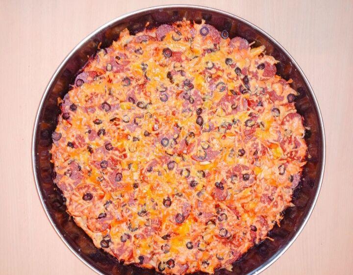 Пицца домашняя семейная