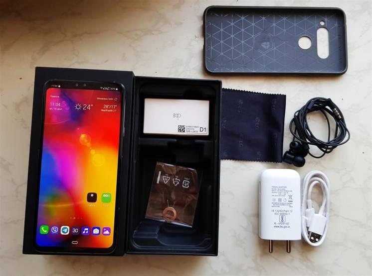 LG V40 dual sim 128 Gb Platinum Gray