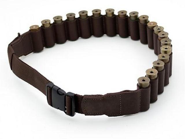 Патронташ -бандольера, кожаный открытый, на 20 патронов 12/16 калибр