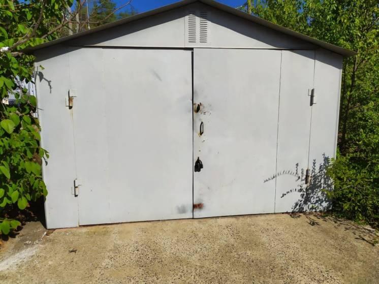 Продаём металлический разборной заводской гараж в отличном состоянии