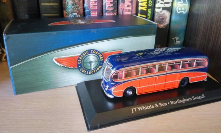 Модель автобуса Burlingham Seagull, ATLAS EDITIONS масштаб 1:76