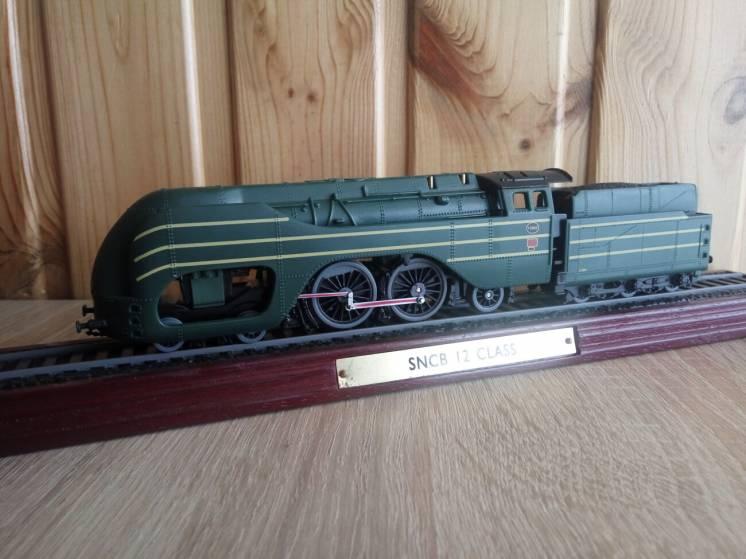 Модель паровоз локомотив SNCB 12 Class, Atlas Editions 1:100