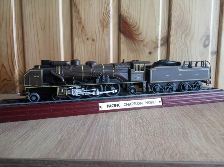 Модель паровоз локомотив Pacific Chapelon Nord, Atlas Editions 1:100