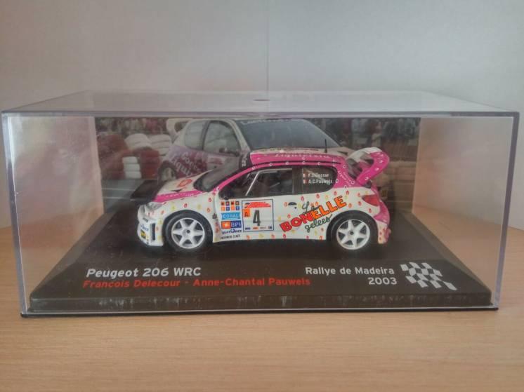 Продам модель Peugeot 206 WRC, Altaya/Ixo, масштаб 1/43