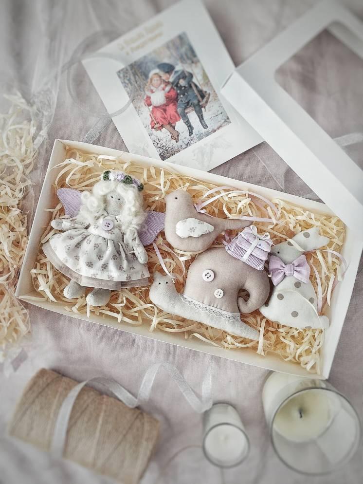 Праздничный подарочный набор новогодних игрушек Новый год декор ангел