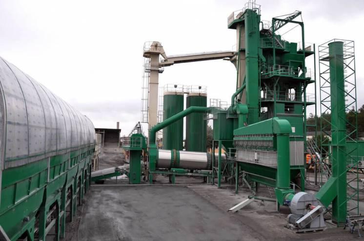 Стационарный асфальтобетонный завод E-MAK GreenType 240 т/ч