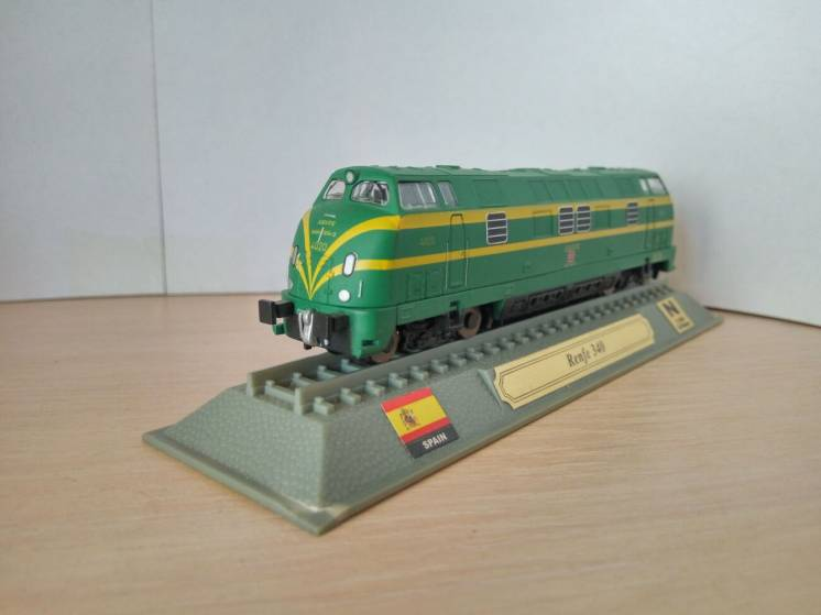 Модель локомотив Del Prado (Испания) Renfe 340 - Spain, масштаб 1:160