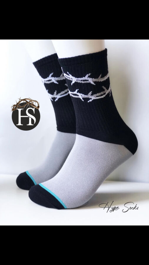 Стильные носки  Терновый Венок от HypeSocks. унисекс