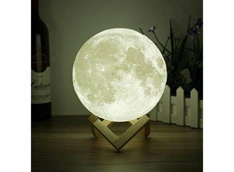 Настольный светильник 3D MOON LAMP Месяц 15 см