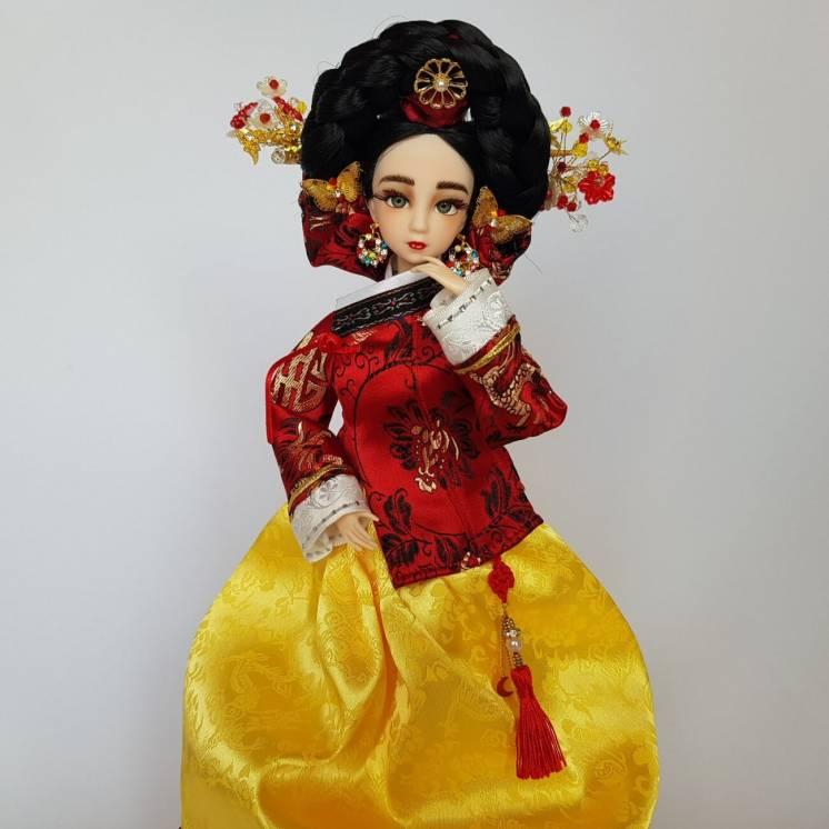 Коллекционная кукла кореянка королева Инхен, императрица Чосона