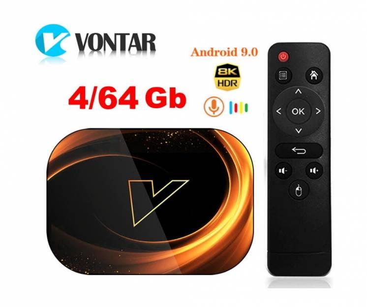 Vontar X3 4+64GB S905X3 8K ТВ приставка тв бокс Smart TV box HK1H96X96