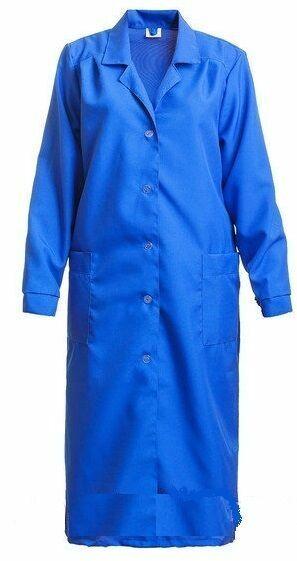 Халат рабочий женский ткань габардин синий