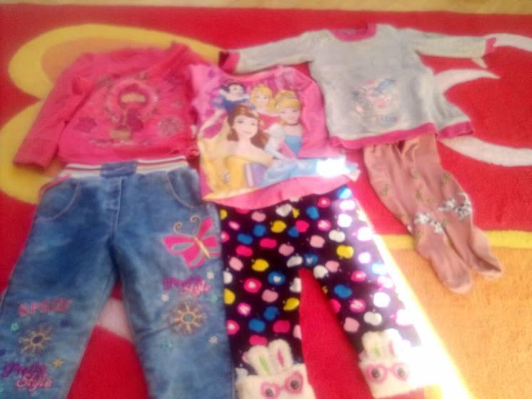 Лот одежды для девочки  годик -2,5лет.