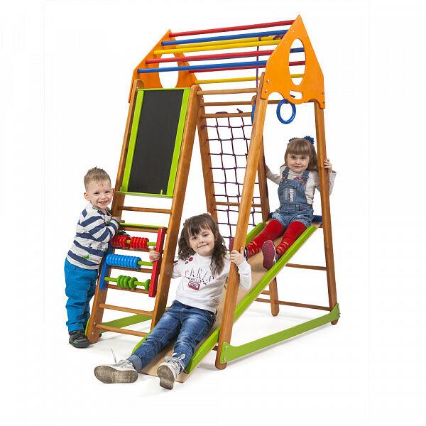 Детский спортивный деревянный комплекс для дома «BambinoWood Plus»
