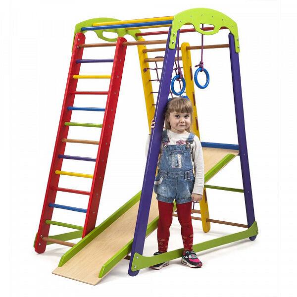 Деревянный спортивный комплекс «Кроха 1 мини» для детей от 3-х лет