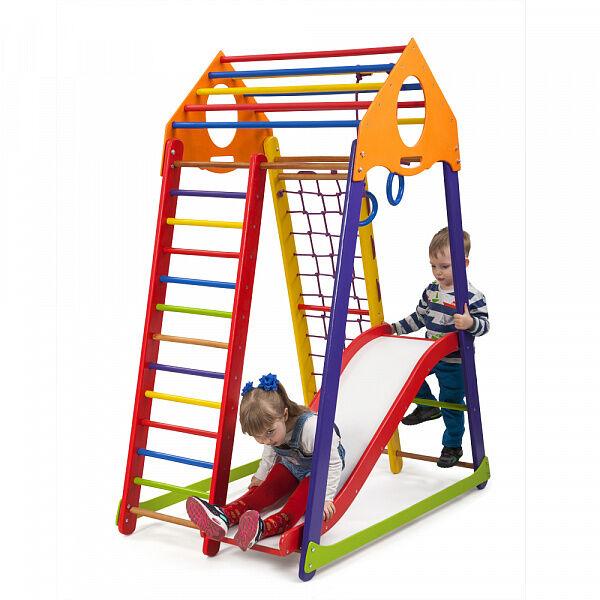Детский деревянный спортивный комплекс «BambinoWoodColor Plus 1»