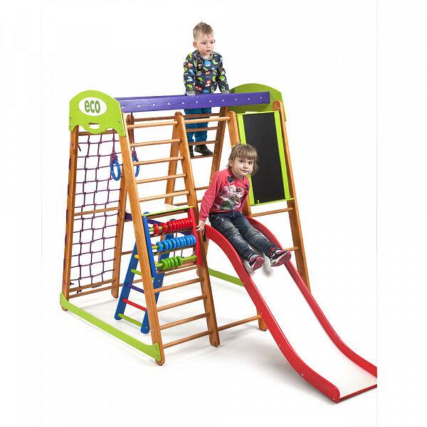 Детский деревянный спорткомплекс для дома «Карапуз Plus 3»