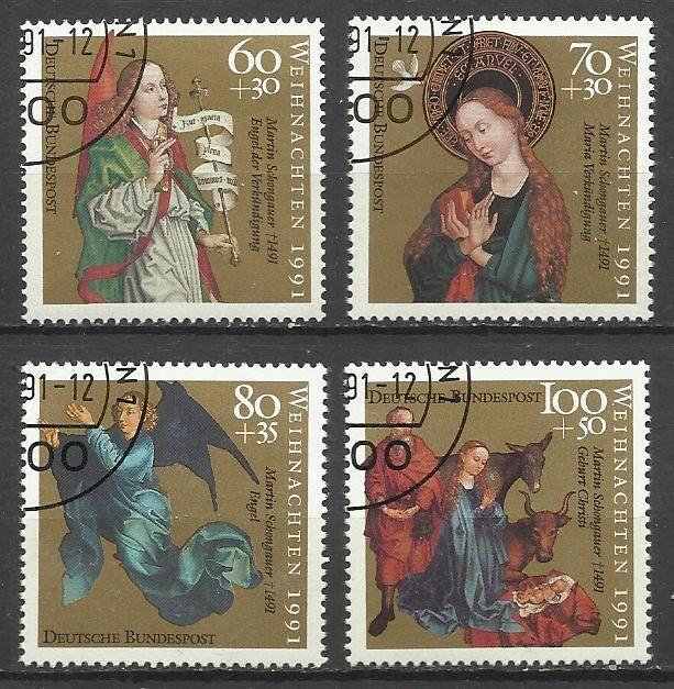 Продам марки Германии 1991 Рождество