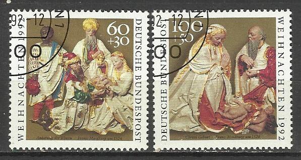 Продам марки Германии 1992  Рождество