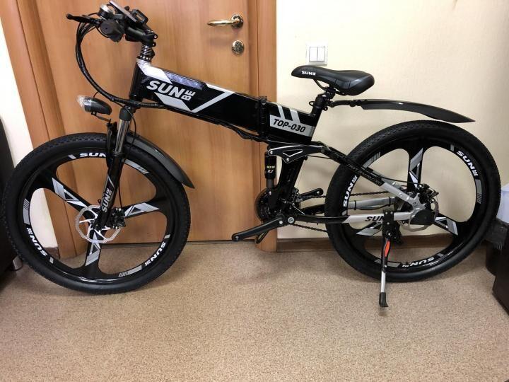 Продам складной Электровелосипед sun-be 500w в отличном состоянии