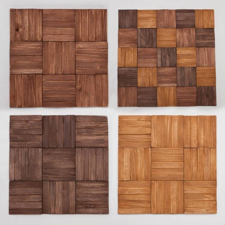 Деревянная Декор Плитка 3Д Мозаика Стеновые Панели 3D AF-201