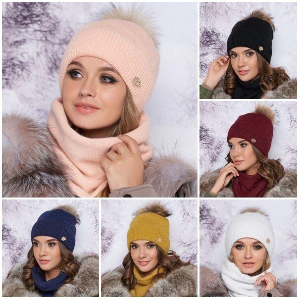 Комплект «тияна» шапка и шарф-хомут 4905-7