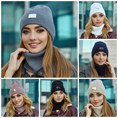 Комплект «шелли» шапка и шарф-хомут 5045-7