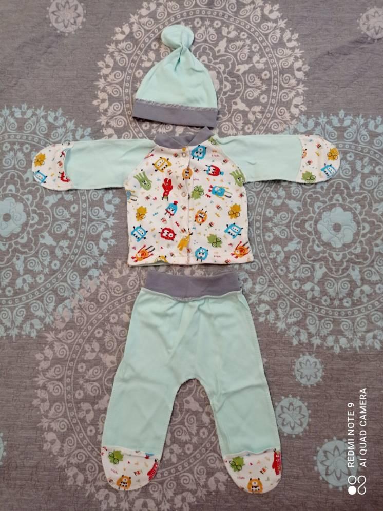 Комплект для новорожденных + шапочка и Бодик в подарок